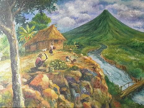Mayon Scene #1 by Manuel Cadag