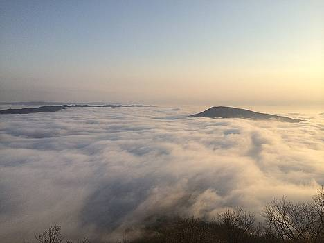 McAfee Knob over the clouds by William Sullivan