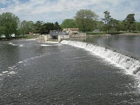 Mchenry Dam Lock by Deborah Finley