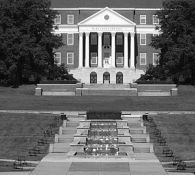 Mckeldin Library Midway BW by Christopher Kerby