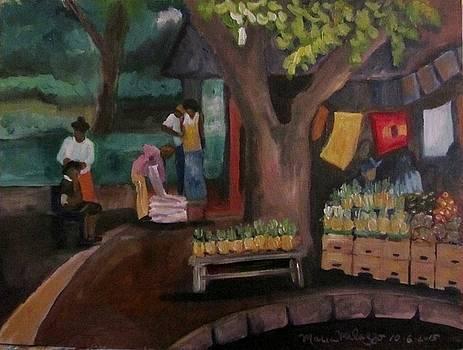 McKenzie Street St. Lucia Market, KwaZulu Natal Africa by Maria Milazzo