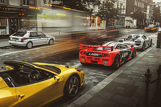 McLaren F1 GTR with Speciale and Integrale and 918 by George Williams
