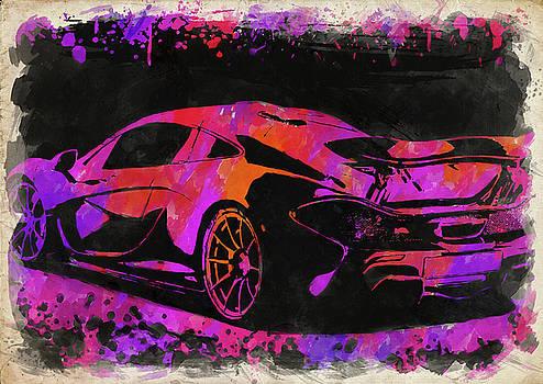 Ricky Barnard - McLaren P1 Watercolor II