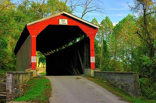 MD Covered Bridges - Foxcatcher Farms Covered Bridge Over Big Elk Creek No. 2A - Cecil County by Michael Mazaika