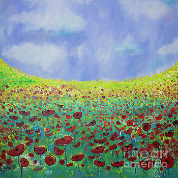 Meadow of Poppies  by Stacey Zimmerman