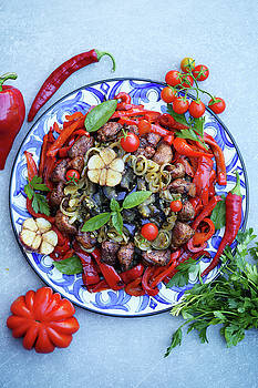 Meat with vegetables by Iuliia Malivanchuk