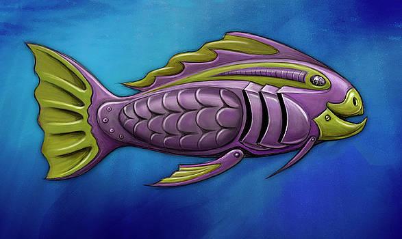 Mechanical Fish 4 Harley by David Kyte
