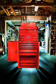 Mechanics Toolbox Cabinet Stack in Garage Shop by YoPedro