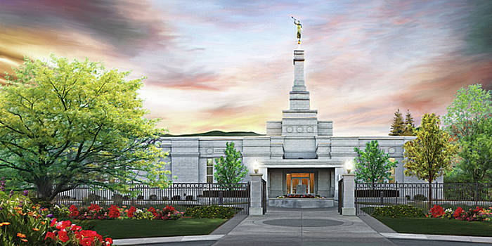 Medford Oregon Temple by Brent Borup