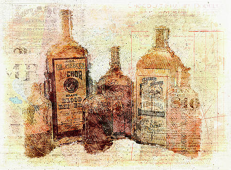 Medicine Bottles by Nancie Rowan