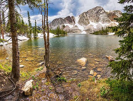 James BO Insogna - Medicine Bow Snowy Mountain Range Lake View