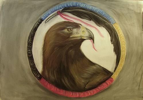 Medicine Hoop Eagle by Michelle  Thomann-Ramirez