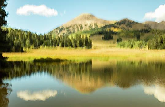 Medicine Lake Reflection by Deborah Hughes