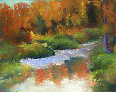 Medicine River Reflections by Roberta Murray