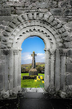 Medieval Arch and High Cross, County Clare, Ireland by James Truett