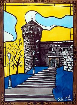 Medieval Bastion -  Mace Tower of Buda Castle Hungary by Dora Hathazi Mendes by Dora Hathazi Mendes