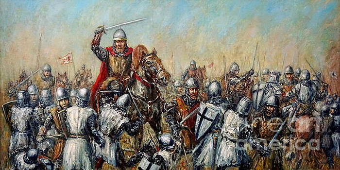 Medieval battle by Arturas Slapsys