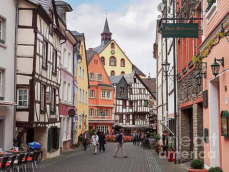 Medieval buildings on a street in Bernkastel Kues by Louise Heusinkveld