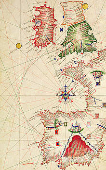 Jacopo Russo - Medieval Map of Europe, from Carte Geografiche