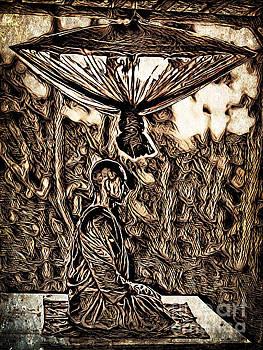 Meditating Monk by Lita Kelley