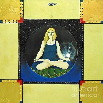 Meditating Woman by John Lyes