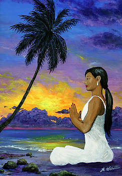 Meditation on the Beach by Amy Scholten