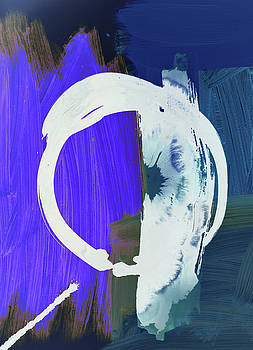 Meditation, white Enso, the breakthrough by Amara Dacer