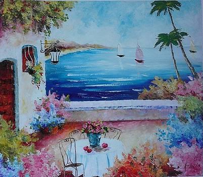 ''Mediterenian seascape'' by Asia Dzhibirova