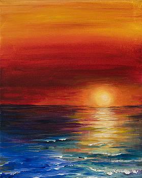 Mediterranean sunset by Georgia Pistolis