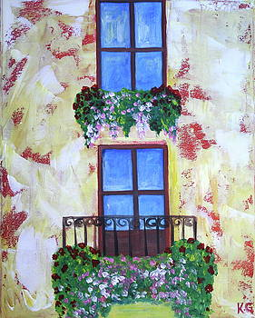Mediterranean Windows by Kristine Mueller Griffith