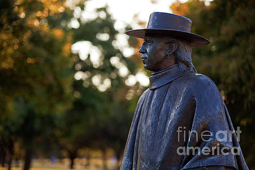 Herronstock Prints - Medium close up of the of Guitar Legend and Stevie Ray Vaughan Statue in Austin, Texas, USA