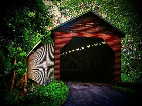 Meem's Bottom Covered  bridge by Joyce Kimble Smith