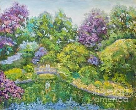 Meeting in the beautiful garden by Olga Malamud-Pavlovich