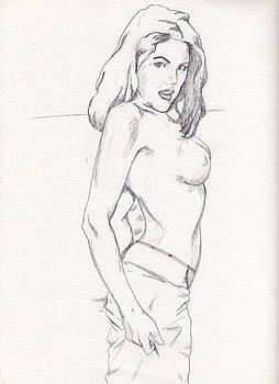Megan - Sketch by Stephen Panoushek