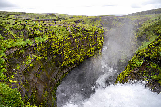 Thundering Icelandic Chasm On The Fimmvorduhals Trail by Alex Blondeau
