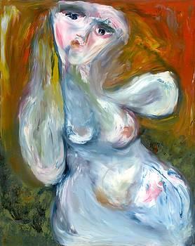 Melancholic Nude by Michaela Kraemer