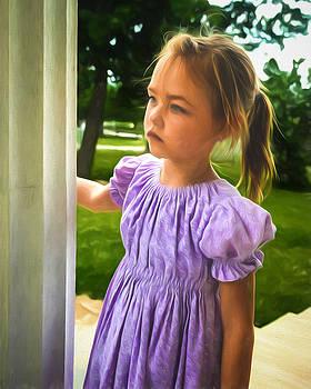 Chris Bordeleau - Melancholy Girl in a Purple Dress