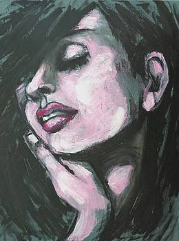 Melancholy - Portrait Of A Woman by Carmen Tyrrell
