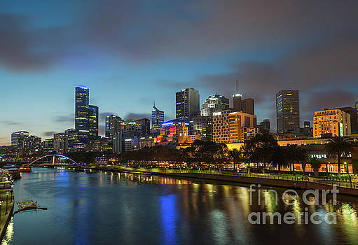 Melbourne city skyline  by Andrew Michael