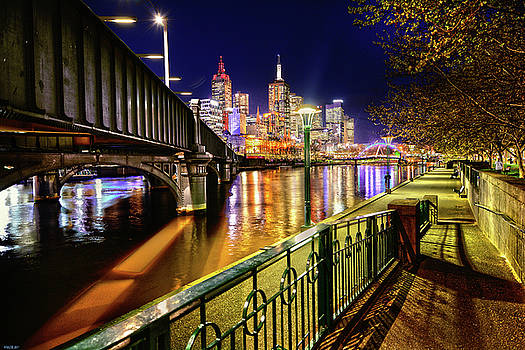 Melbourne Nightscape by Peter Krause