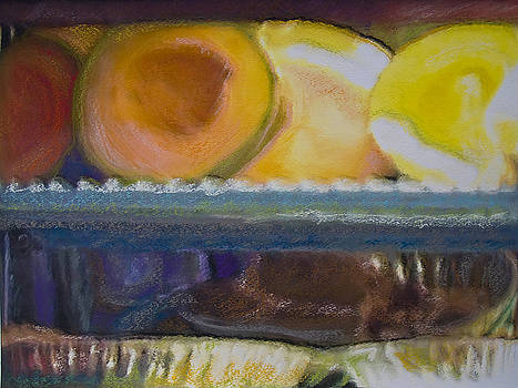 Melon And Pies Pastel Photo Painting by Andy Mars