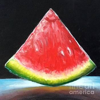 Melon slice  by Hilary England
