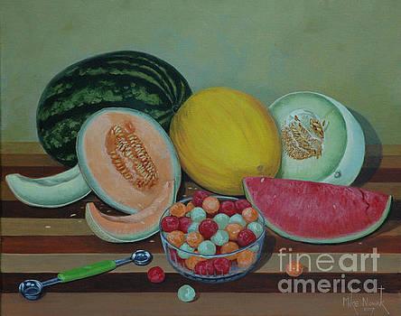 Melon Still Life by Michael Nowak