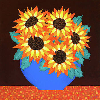 Mel's Sunflowers by Lisa Frances Judd