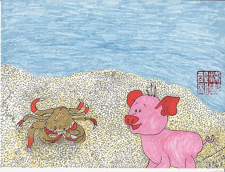 Melted When Crabby met Piggy by Golden Dragon