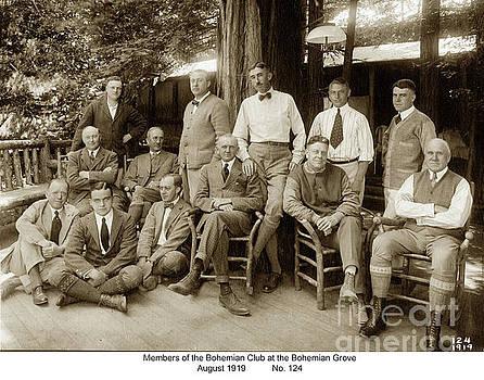 California Views Mr Pat Hathaway Archives - Members of the Bohemian Club at the Bohemian Grove, August 1919
