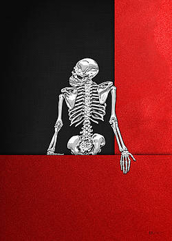 Serge Averbukh - Memento Mori - Skeleton on Red and Black