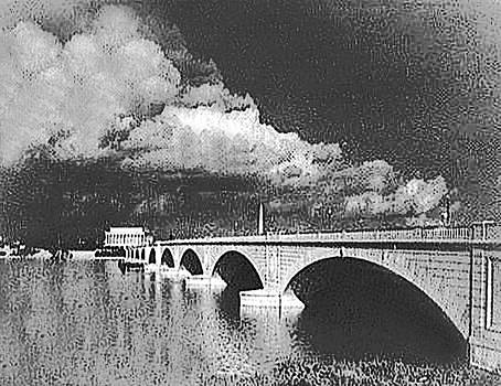 Memorial Bridge BW Tuesday by Christopher Kerby