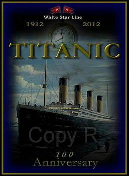Memorial Titanic poster  Anniversary by Marko Lulic