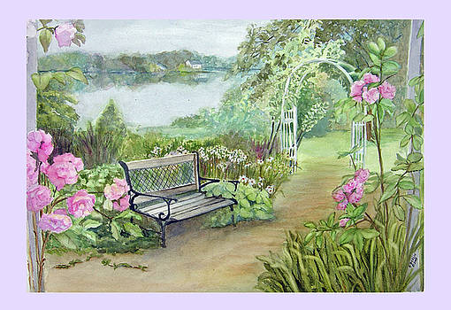 Memory Garden at Lake Pocotopaug by Katherine  Berlin